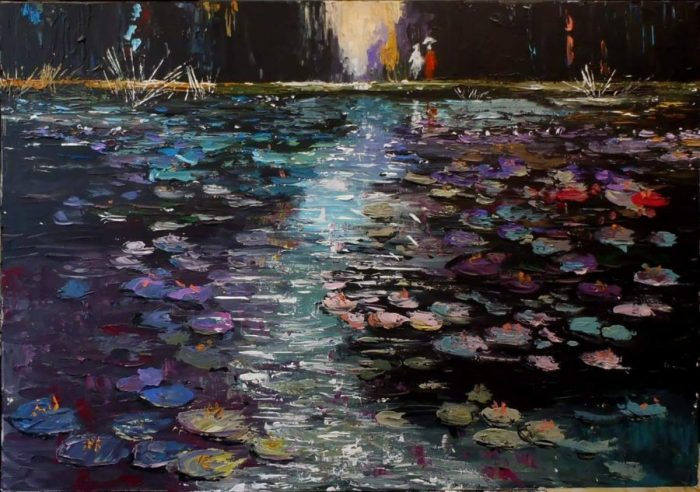 Večerné lekná ( evening water lilies )