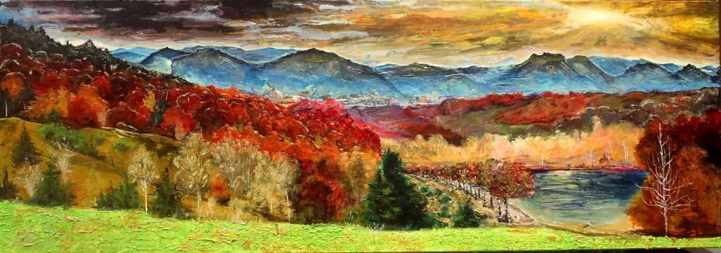 Autumn under the Mountain