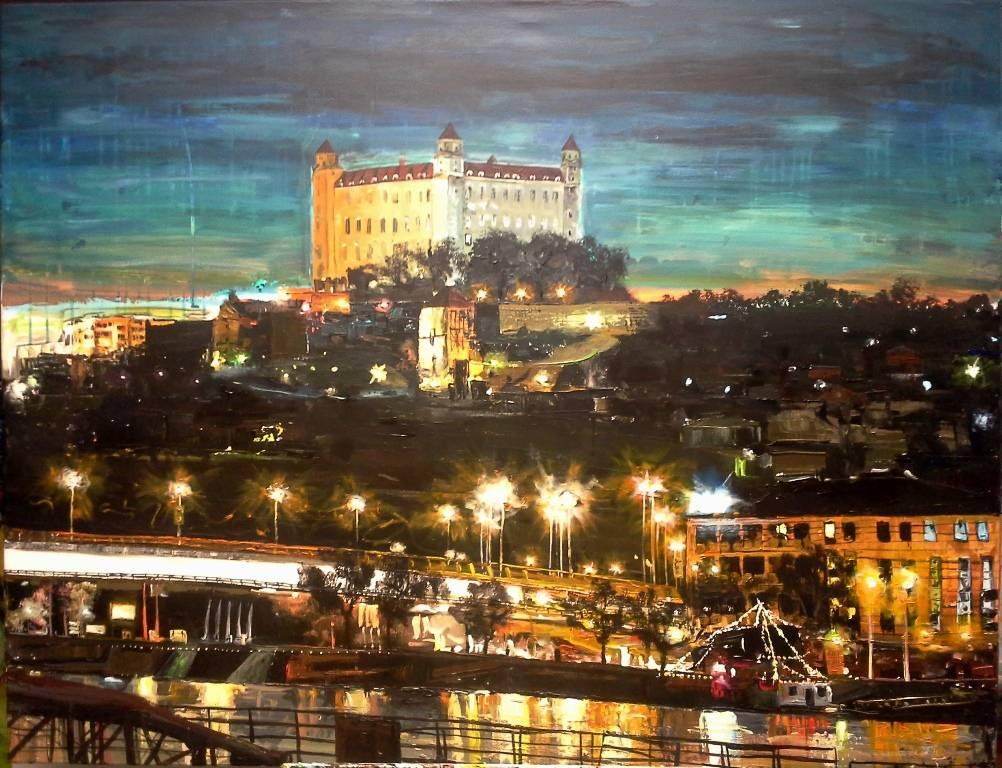 Západ nad Bratislavským hradom